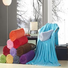 Купить Онлайн Размеры одеяло-4 Размер Plaid 10 различных цветов диван / воздух / постельные принадлежности Throw сплошной цвет и двухлобной путешествия фланелевую Одеяло фестиваль предвкушение