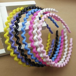 Wholesale 0.6cm Wide Cute Candy Color hair Accessories girl Hair Jewelry Plastic wave hair band 12pcs lot alice headband free shipping