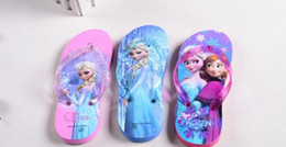 Slipper Children Shoes Girls Slippers Flip Flops Slipper Frozen Casual Slippers Princess Anna Elsa 2016 Sandals Kids Beach Shoes Fashion