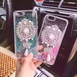 Nuevos diamantes flotante brillo corazón corriendo arena movediza líquido dinámico duro caso transparente transparente iPhone 4 / 4s / 5 / 5s / 6 iphone 6 más J5 desde casos del corazón iphone 4s proveedores
