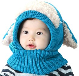 Wholesale 2016 hotsale Baby Girls Boys Winter Hat Scarf Earflap Hood Scarves Skullcaps best companion for kids and children in winter TQ01