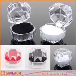 2017 boîtes à bijoux dames Élégant utile en plastique Transparent Clear boîte à bijoux Anneaux Boucle d'oreille Display Box Organisateur mariage Lady Case Meilleur cadeau boîtes à bijoux dames promotion