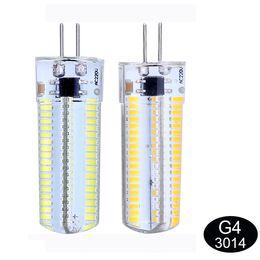 Dimmable LED ampoule de maïs 7W G4 / G9 / E17 / E14 / E12 / E11 / BA15D Ampoules LED lampe d'éclairage droplight SMD 3014 110V / 220V chaud 840lm blanc froid / 152 leds à partir de g4 blanc bulbe fournisseurs