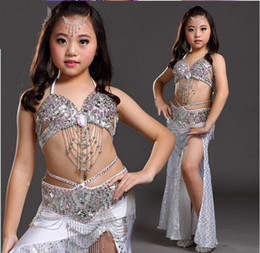 Wholesale Girls Kids Belly Dance Costume Bollywood Indian Oriental Dance Carnival Children s Performance Stage Wear Mardi Gras Colors