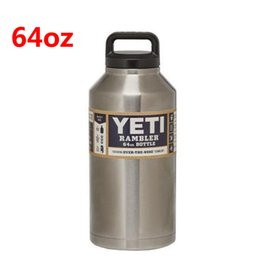 Wholesale 64oz Yeti Outdoor Sport Coolers Stainless Steel Vacuum Flask Bottle Car Cup Travel Mug