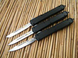 Wholesale Deluxe Microtech Makora II Tactical Knife Aluminum Black Handle styles of blade Single or Double edge EDC Pocket knife