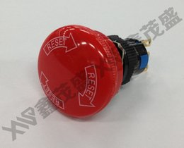 Wholesale dia mm big head mushroom emergency stop push button switch NO NC K16 N UL CE certificated