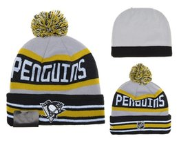 Wholesale Pittsburgh Penguins Hockey Beanies Team Hat Winter Caps Popular Beanie Caps Skull Caps Best Quality Sports Caps Allow Mix Order