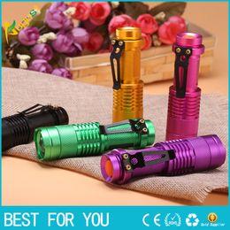 Wholesale New hot Zoomable Led Flashlight Torch Light nm Ultra Violet Light Blacklight UV Lamp AA Battery For Marker Checker Cash