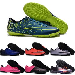 Wholesale 2016 Cheap Football Shoes Men Women Children's Mercurial Victory V TF Soccer Boots Top Quality Authentic Kids Sneakers SIze 31-45