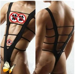 Wholesale Sexy Men Lingerie Body Suit One Piece Hot Wear Jumpsuit Sexy Body Cutout Body Wear Mens Bodysuit Erotic Lingerie Beach