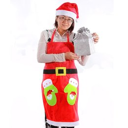 Wholesale Christmas Apron Kitchen Cooking Aprons Christmas Dinner Party Apron Santa Claus Pinafore Christmas Decoration Product code