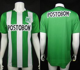 Wholesale Top Quality Jersey Atletico Nacional Medellin Maillot de foot Ibarbo Diego Arias Cardenas Luis Carlos Home Football Shirts