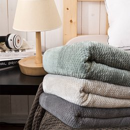 Wholesale Blanket Green Dark Coffee Sofa Coverlet Sheets Towel Blankets Air Travel bedspread for winter gray comfortable blanket