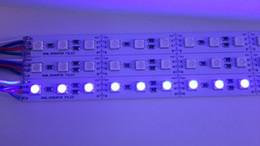 20pcs under cabinet led lighting 1M 5050 RGB led strip Rigid Hard Strip DC12V Bar Light 5050SMD 72 LED Free Shipping