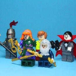 Wholesale Bela Scooby Doo Fred Shaggy Minifigure Building Block Bricks Toys Action Figure Block