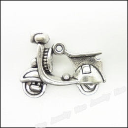Wholesale Alloy Tibetan Silver Plated Scooter Charms Vintage Electrocar Metal Charms 18*23mm AAC1195