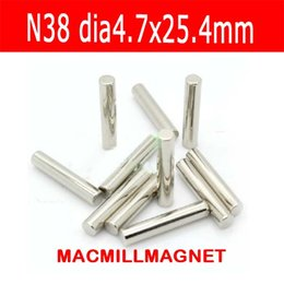 2016 Brand New 8Pcs Super Strong Round Rod Neodyminum Magnet Dia4.7x25.5mm N38 Rare Earth Magnet Disc