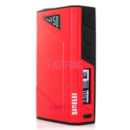 Wholesale Original Sigelei J150 Box Mod sigelei w TC mods Li polymer Battery Sigelei J150 VS Sigelei T200 Snow wolf Smok Xcube Ultra