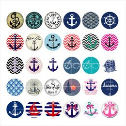 Wholesale Anchors snap button jewelry charm popper for bracelet GL041 jewelry making