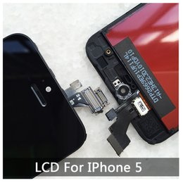 Wholesale High quality LCD Display Touch Digitizer Complete Screen with Frame Full Assembly Replacement for iPhone With Free DHL Shipping