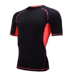 Fashion Men Short Sleeve O-Neck Compression T Shirts good quality