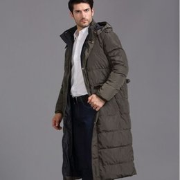 NEW Men White Duck Down Parkas Winter X Long Jacket Hooded Thick Warm Coat Outdoor Snow Overcoat Windbreak Plus Size 4xl Black Army Green