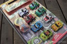 Child car model toys, pull back police car piece, an 8 installation, transportation toy car
