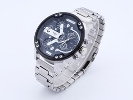 Wholesale Oulm Luxury Brand DZ Men Alloy Metal Watch Colors Big Size Army Dual Time Male Casual Military Wristwatch Relogio Masculino