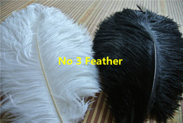 Wholesale 12-14inch 500 black and 850 white ostrich feathers for wedding centerpiece Wedding decor wedding feather centerpiece