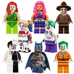 Wholesale 2016 New Super heros Minifigures Suicide Squad Joker Harley quinn Two Face Scarecrow Starfire building blocks toys bricks PG8013