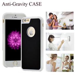 Wholesale For iPhone plus S SE S plus Galaxy S7 S6 edge Hybrid TPU PC Anti Gravity Adsorption Case Magic Stick Sorption back Cover SCA175