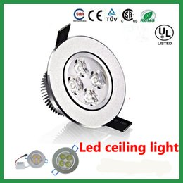 High Power 12W Dimmable LED Downlights Round with driver LED lights ceiling light downlight AC85-265V free ship