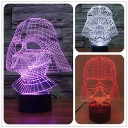 Wholesale New Star Wars Darth Vader light colorful D stereoscopic visual LED light table lamp night light touch switch Holiday Lamp