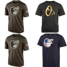 Wholesale MLB Baltimore Orioles T Shirts cheap baseball jerseys Gold Collection Banner Wave Salute To Service Tshirts freeshipping