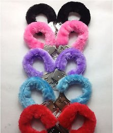Wholesale Different Colors Furry Handcuffs Women Hand Wrists Cuffs Restraints SM Bondage Gear Sex Product Toys For Adult