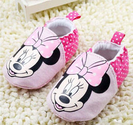 2016 spring and autumn winter cotton soft bottom slip shoes orange Tigger and Minnie Mouse baby boy and girl shoes baby first walker