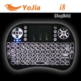 Wholesale 10pcs VONTAR Rii I8 Keyboard Wireless Backlight Air Mouse Remote With Touchpad Handheld For TV BOX X96 T95 M8S MXQ PRO Plus