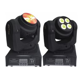 4pcs Lot Free Shipping Factory Price Mini Double Size 10W Beam and 40W Wash Moving Head Light for DJ,Club and Bars