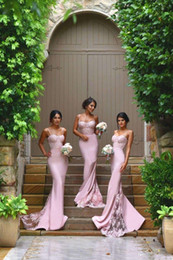 2016 New Mermaid Long Junior Bridesmaid Dresses Sexy Spaghetti Straps Lace Applique Party Gowns African Maid of Honor Dress Plus Size Custom