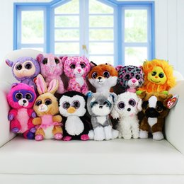 Wholesale TY beanie boos big eyes plush toy doll child birthday Christmas gift Dog elephant rabbit Penguin cm
