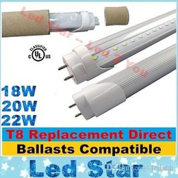 Wholesale 18W W W FT LED T8 Tubes With Electronic and Inductive Ballasts Compatible Replacement m mm T8 Tubes Lights AC V