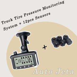 Wholesale 12pcs sensors Tire Pressure Monitoring System Car TPMS tools External Sensors for Truck Trailer RV Bus Miniature passenger car