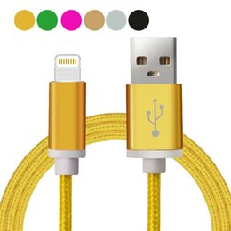 Wholesale HOT Unbroken Metal M Long Strong Braided USB Charging Cable For Smart Phones Samsung s7 s6 USB Wire With Metal Head Plug