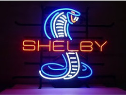 Wholesale New MUSTANG COBRA SHELBY CAR DEALER NEON SIGN BEER BAR PUB LIGHT GARAGE MAN CAVE