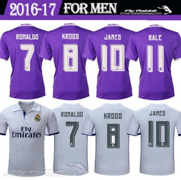 Wholesale Whosales Madrid Jersey Soccer Jerseys football Real Cristiano Ronaldo Bale James Kroos Benzema Soccer uniform Best Thai