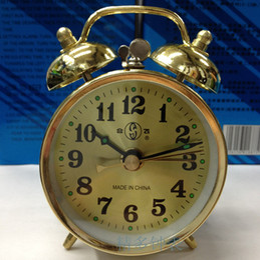 Wholesale Retro nostalgia mechanical alarm clock simple bell on binaural beat clockwork