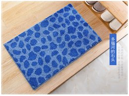 Wholesale Wholesales Blue Stone Flocking Absorbent Mats Non Slip Mats Square Modern Indoor Entrance Mats Carpet Floor Mats