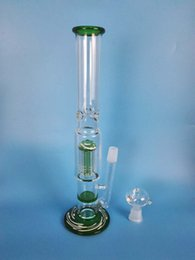 h:34 Free shipping glass fork glass honeycomb filter glass water pipe water pipe brand quality,h:38cm d:5cn  4.5cm.green
