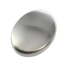 Wholesale 200pcs Stainless Steel Soap Oval Shape Deodorize Smell from Hands Retail Magic Eliminating Odor Kitchen Bar ZA0997